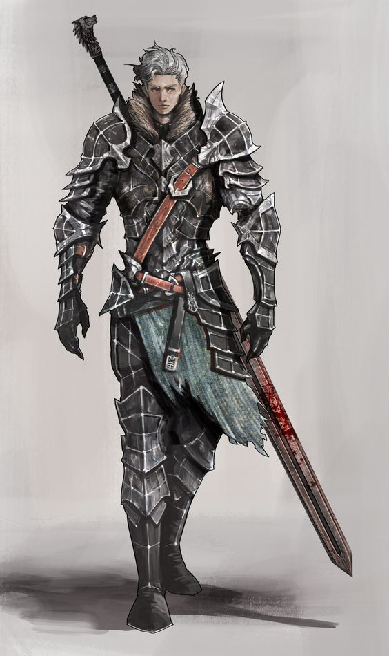 Human Warrior Knight  Armor