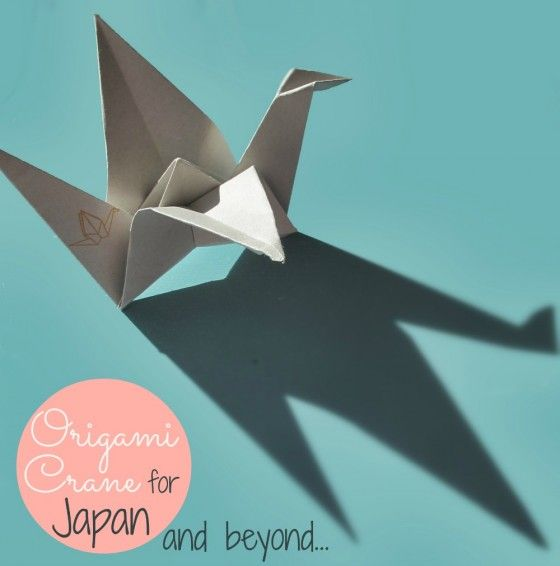 Origami Kranich Faltanleitung kleinstyle.com_origami crane for japan and beyond