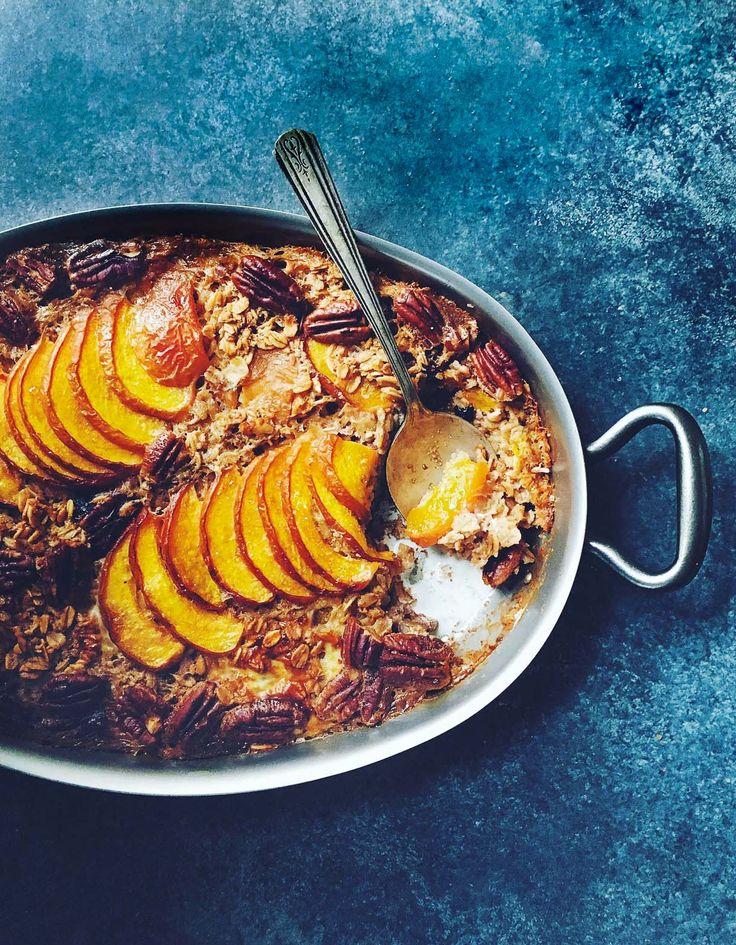 Peach Baked Muesli {gluten-free}