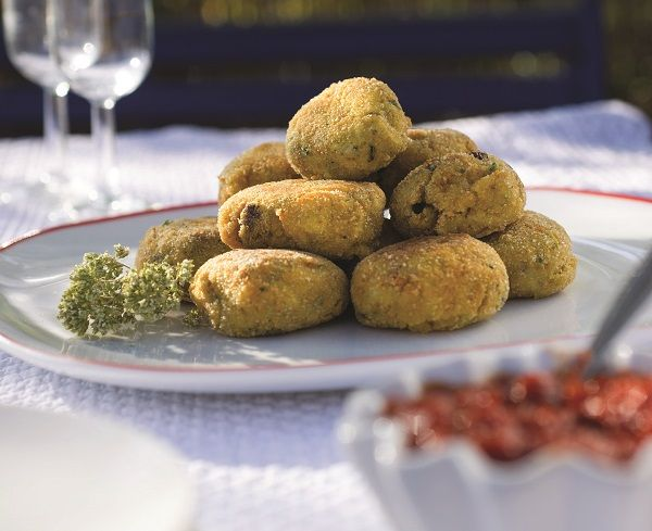 Polpettine di Melanzane - aubergineburgers - recept uit: Italiaanse hapjes Linda Wildsmith