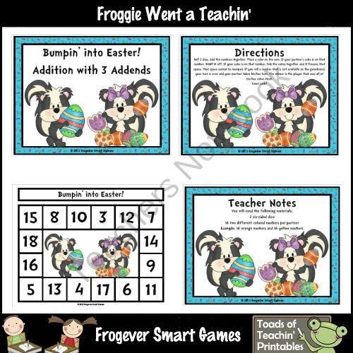 30 best Free BUMP Games on TpT images on Pinterest | Math games ...