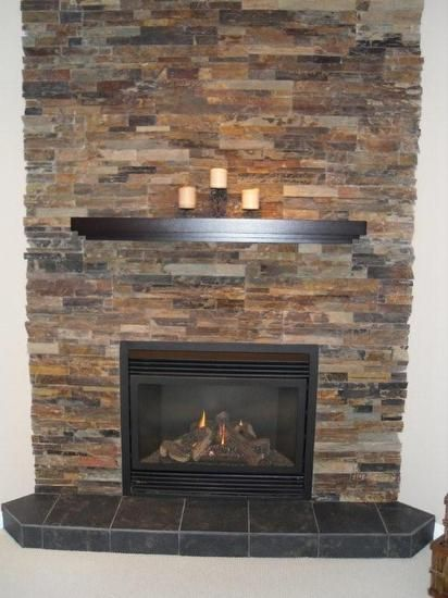 17 best images about ideas for replacing fireplace on pinterest fireplaces fireplace mantels - Brick fireplace surrounds ideas ...