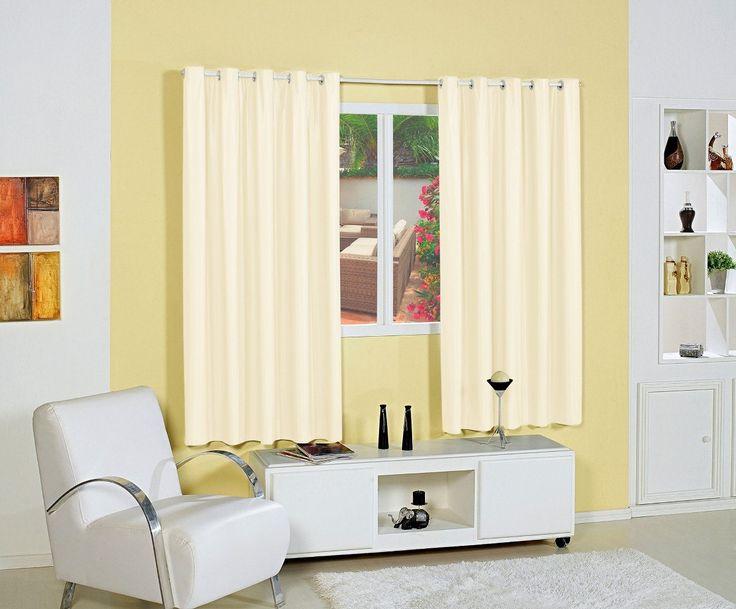 cortina corta luz 2 metros blackout - tecido pvc - com ilhós
