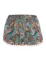 Floral shorts w/pom pom trim - House of Fraser