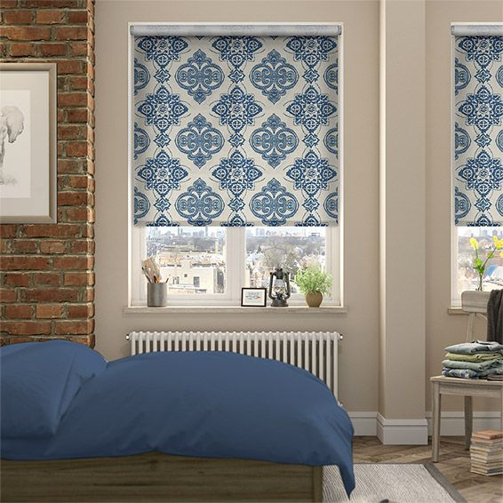 New Choices Baroque Cobalt Blue Roller Blind