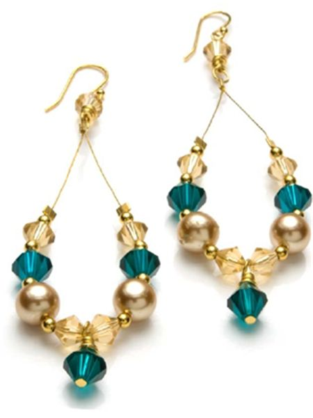 Gold Forest Earrings - Instructions Here:  http://www.primabead.com/Gold-Forest-Earrings-P7249.aspx?source=pinterest