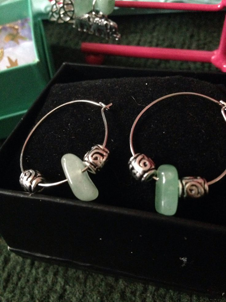 A personal favourite from my Etsy shop https://www.etsy.com/uk/listing/464485577/jade-hoop-earrings
