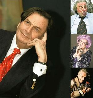 Barry Humphries in various guises..........farewell tour this year :|