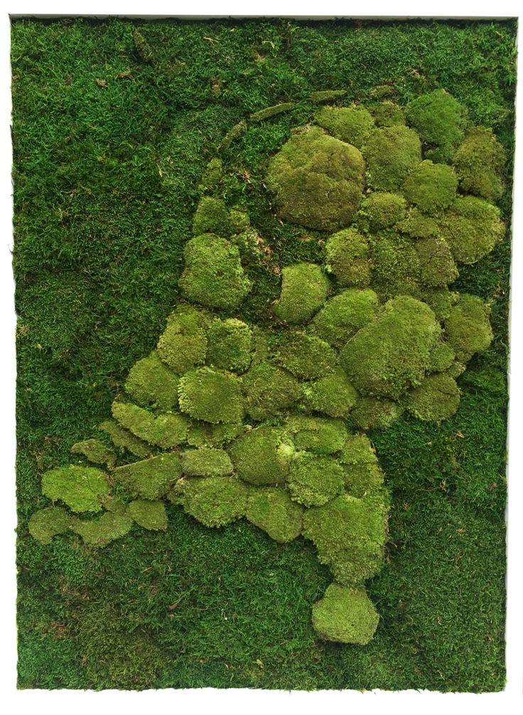 Mosschilderij Nederlandse kaart