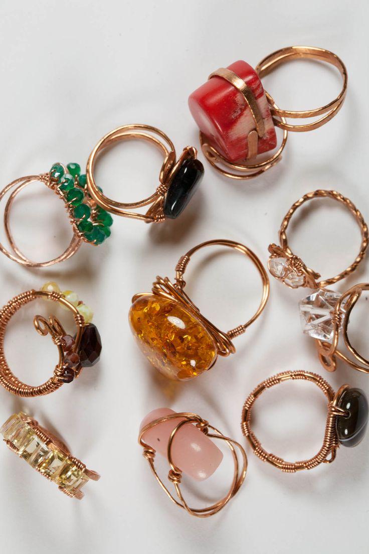 copper and gemstones