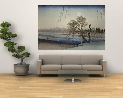 Ando Hiroshige - Autumn Moon Over Tama River Obrazy na AllPosters.cz.