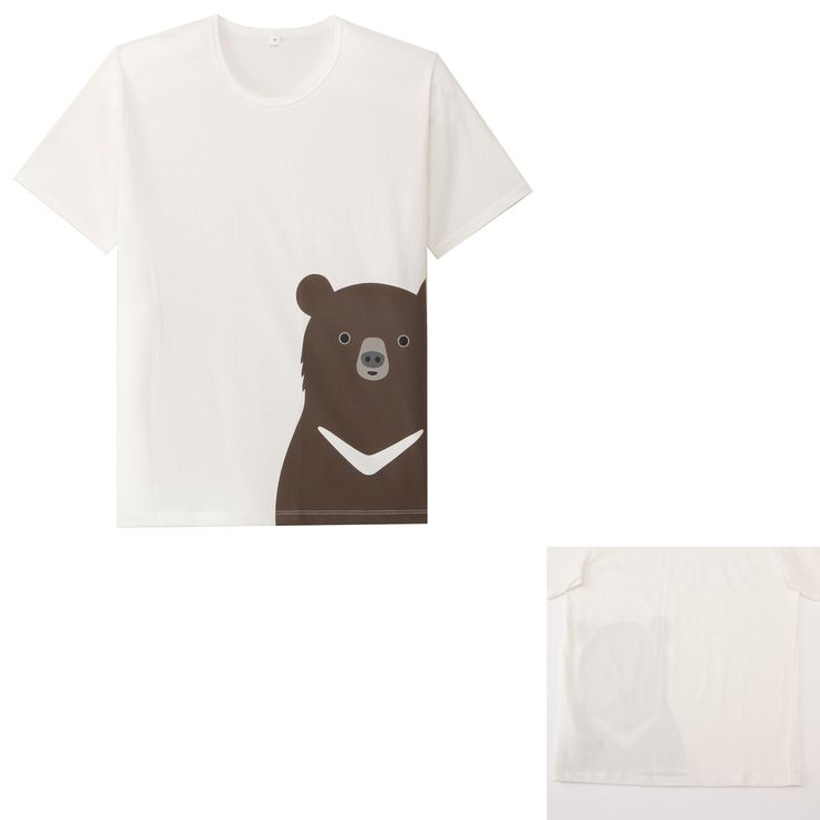 オーガニックコットンプリントTシャツ ネット限定 (大人サイズ) 紳士S・ツキノワグマ | 無印良品ネットストア