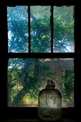 Photograph by Ingrid Truemper: Window, Abandoned house, Abeytas, New Mexico