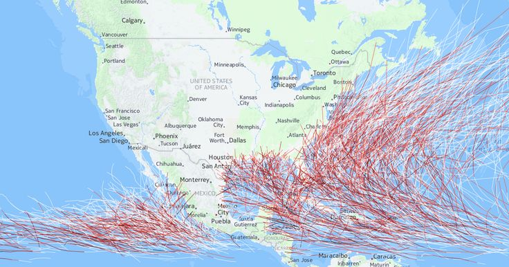Historical Hurricane Tracks