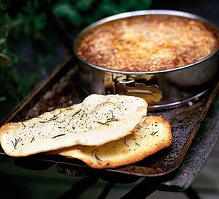 Rustic bread- This is a traditional Sicilian bread that you can make in the morning to get ahead