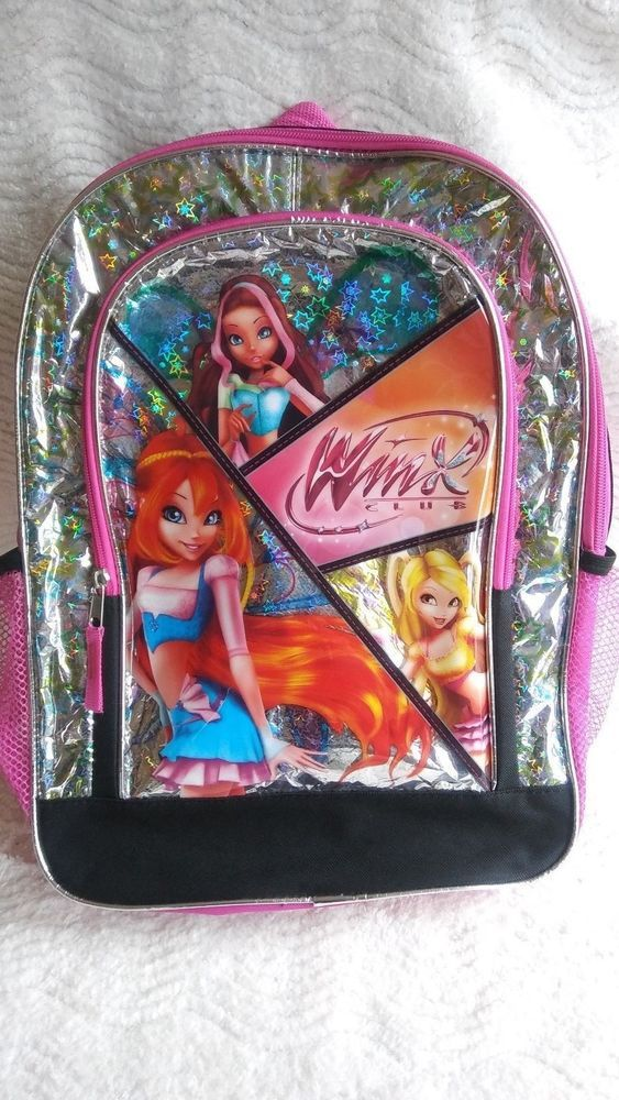 6daf6ce29b51 Winx Club Pink Hologram Backpack Nickelodeon School Book Bag Unique 2013  Fairy #Nickelodeon #Backpack | My eBay Items For Sale :) | Girls  accessories, ...
