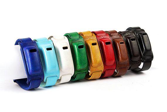Colorful fitbit bracelets  fitbit accesory  all by BlankLeather