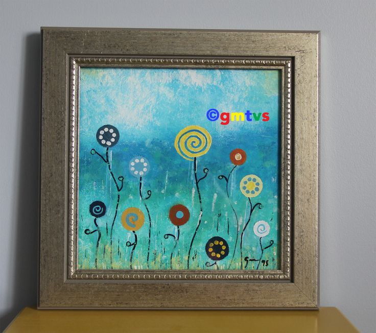 Garden -Acrylic Painting For Sale