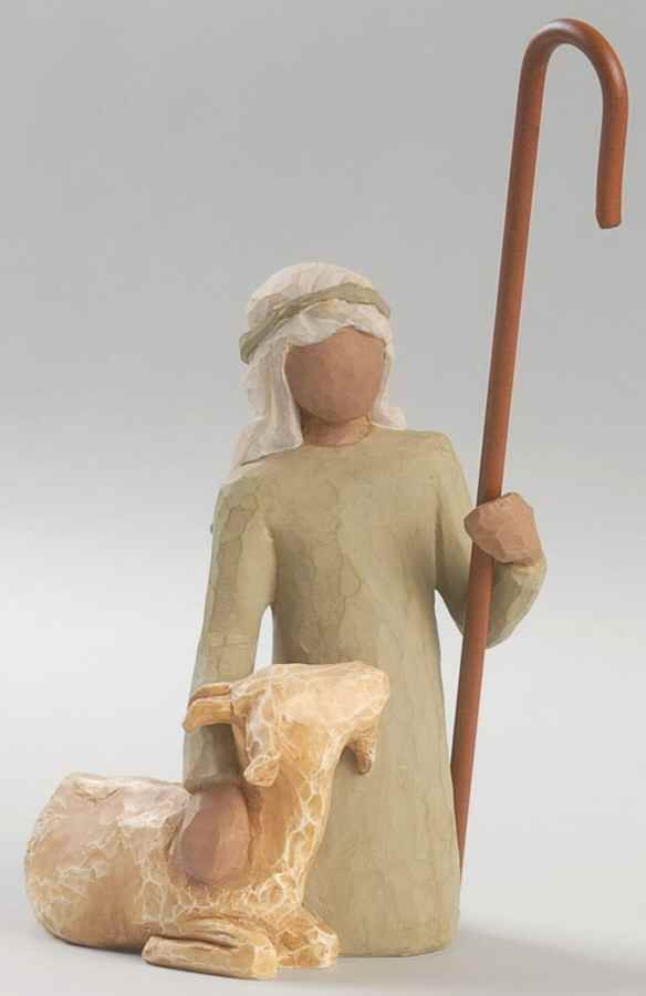 Demdaco WILLOW TREE NATIVITY FIGURINE Shepherd Kneeling (No Box) 7138161