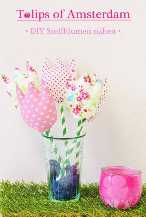 Tulpen aus Stoff nähen [mit Anleitung & Schnittmuster