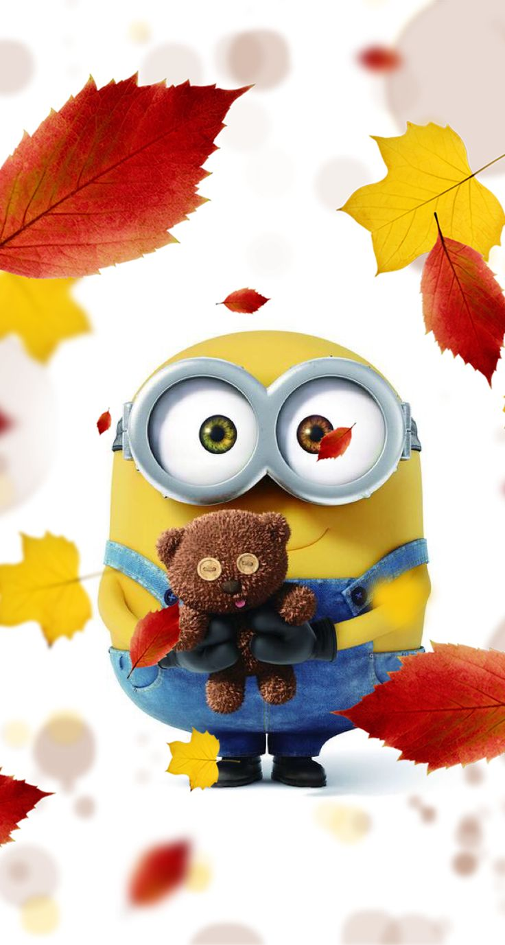 Wallpaper iPhone minions #cute More
