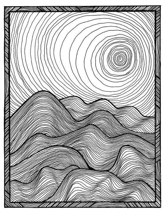 Contour Line Drawing Zone : Best fish artwork ideas on pinterest stick wood