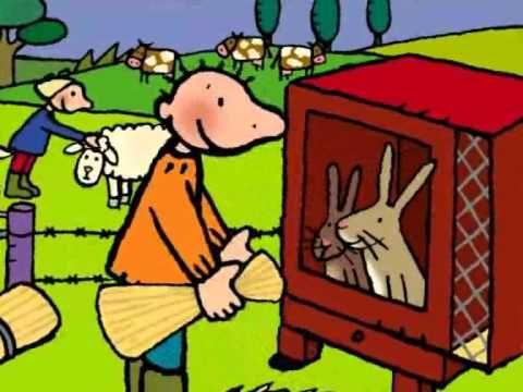 Jules op de boerderij.  Jules is op bezoek bij Oom Gust. Die heeft een kinderboerderij. Jules mag helpen in de vele dierenhokken. Maar daar krijg je honger van!