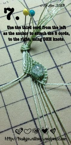 All at Sea Micro Macrame Bracelet tutorial picture 7
