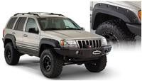 Part Number: 10926-07 Fits 1999 to 2004 WJ Grand Cherokee Front and rear flares Rear detachable piece for aftermarket bumpers Adds up to 1.25 inches of tire coverage from debris Sheet metal removal ma