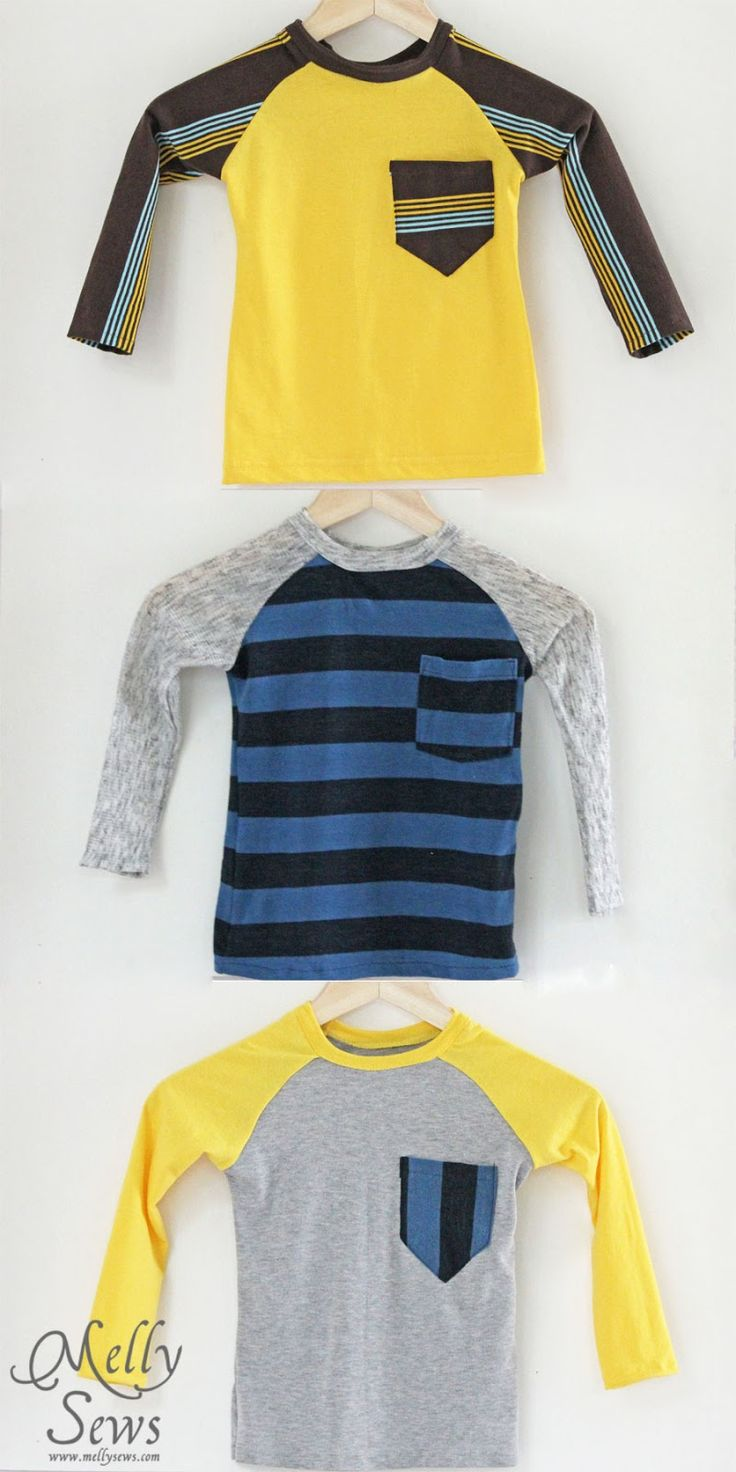 Melly Sews: Raw Edged-Raglans from the book Sewing for Boys