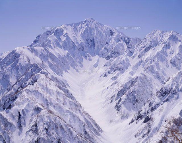 冬の鹿島槍ヶ岳 北アルプス (c)SHINICHI SASAKI/SEBUN PHOTO