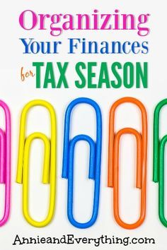 Is the thought of doing your taxes weighing you down?  Tax season doesn't have to be stressful -- check out these organizing ideas to help you get the job done.  The sooner you file, the quicker you get your refund!