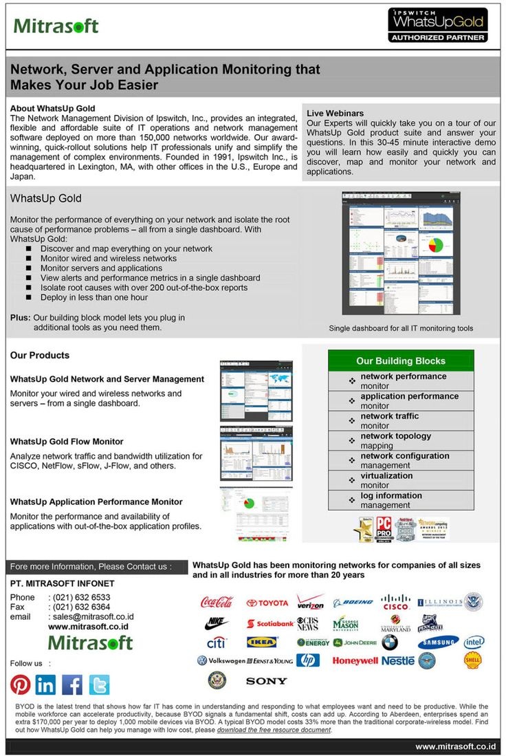 Mitrasoft whatsup gold server and application