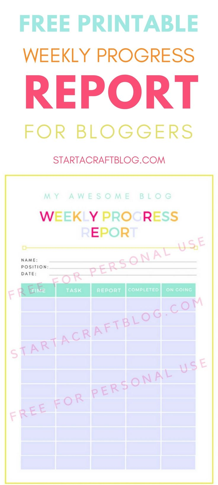 Download the free printable weekly progress report for blogging tasks. Get access to the blog vault full of free training; a free pinterest free webinar, affiliate trackers, mini guides & all the resources you need to grow as a blogger, get more traffic & monetise.