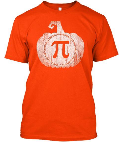 Pumpkin Pi   Math Shirt Orange T-Shirt Front