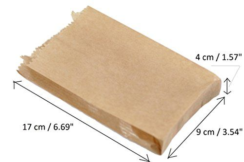 '250x Force 3,5«x6–90x 40x 170mm Paper Gift Wedding Party Brown Paper Merchandise Sac Bags Lunch Storage Container Food Flat Craft…