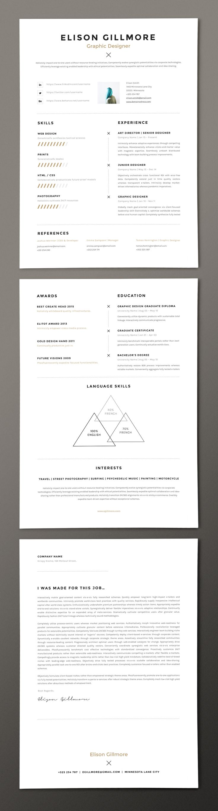 66 best free resume templates for word images on pinterest