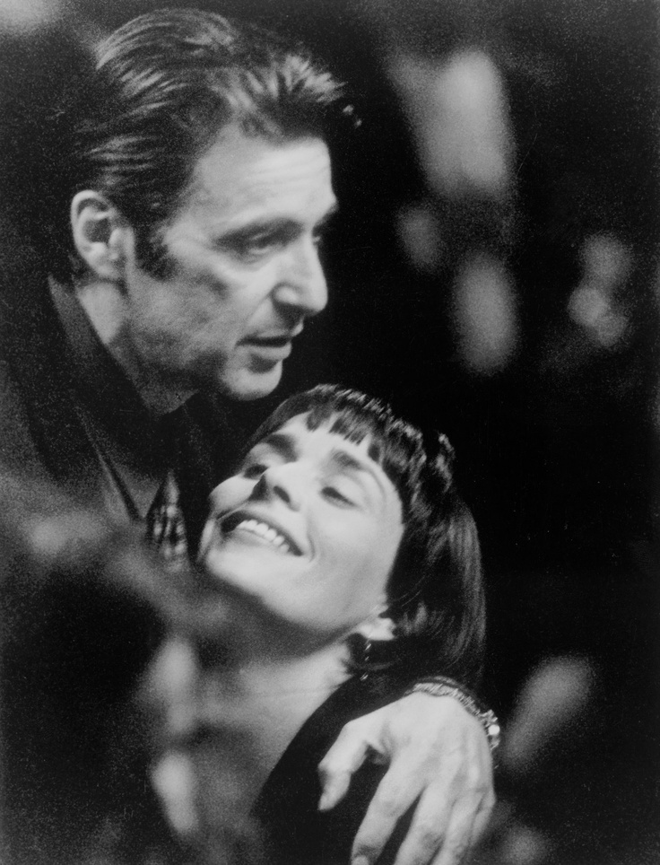 """Al Pacino as Lt. Vincent Hanna and Diane Venora as Justine Hanna in """"Heat"""", 1995"""