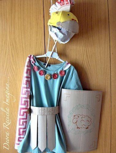 Disfraz de romano casero para niños