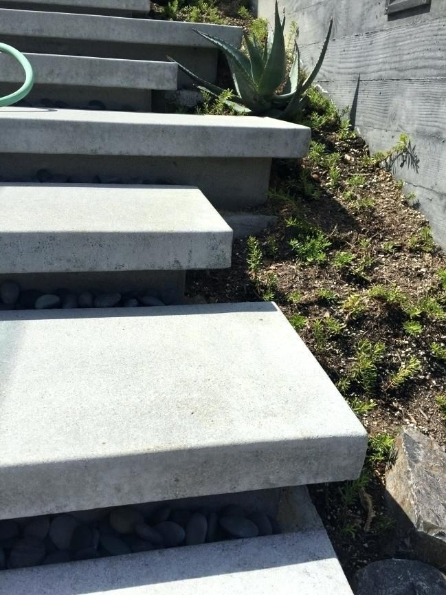 Best Floating Concrete Steps Floating Stairs Floating Concrete Front Steps Exterior Stairs Garden 400 x 300