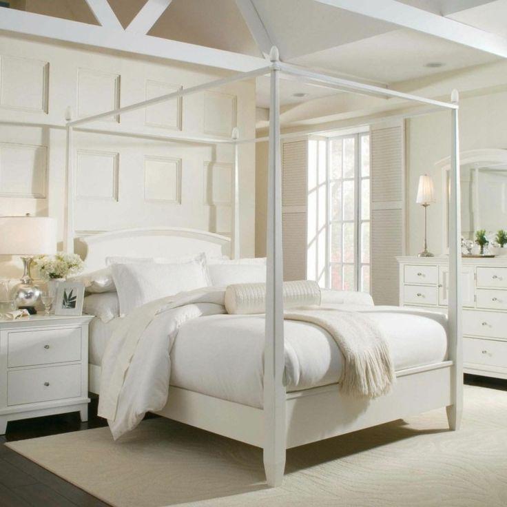 lit baldaquin pour une chambre de d co romantique moderne chambre pinterest lit baldaquin. Black Bedroom Furniture Sets. Home Design Ideas