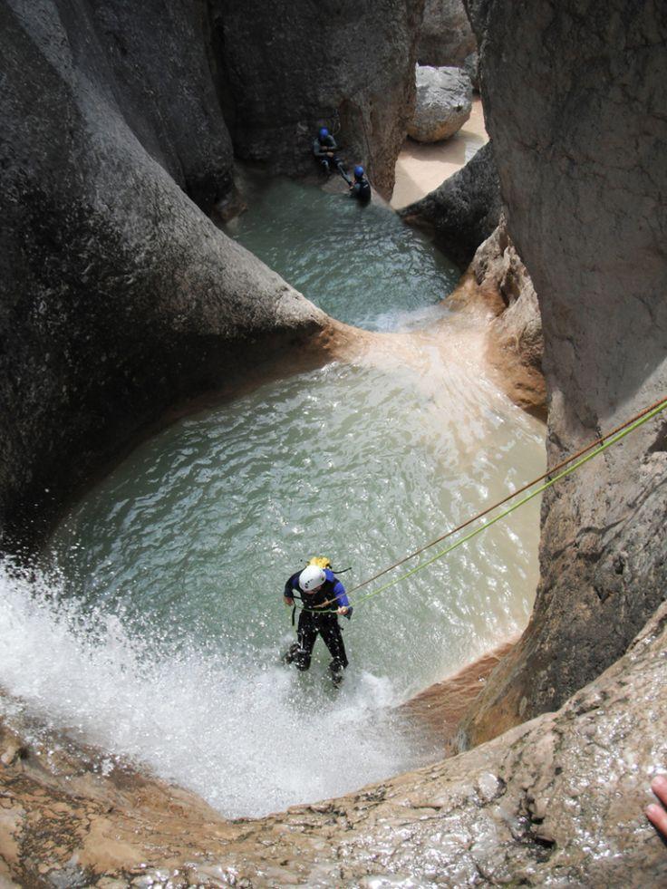 Sucesión de cascadas en el tramo conocido como de Peña Guara.