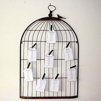 notonthehighstreet Vintage Birdcage Notice Board Table Plan