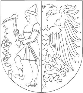 miner and eagle coat of arms coloring page