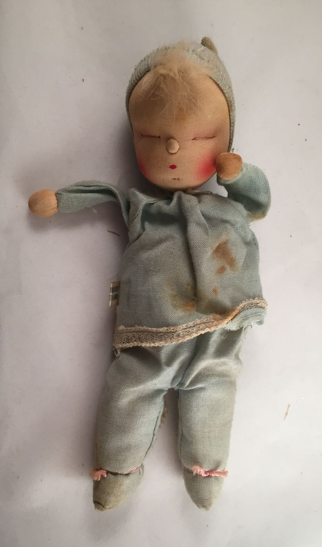 Vintage Boy Baby Doll Tag says 1957