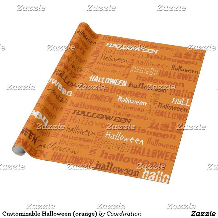 Customizable Halloween (orange)