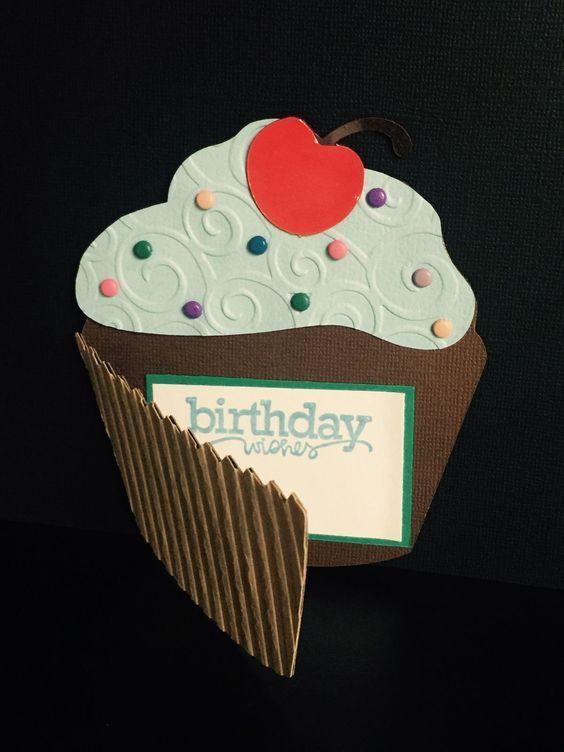 Открытка кекс на день рождения