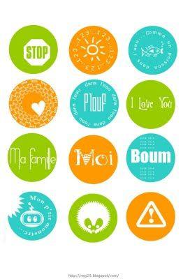 DIGITAL SCRAP : Etiquettes à Imprimer