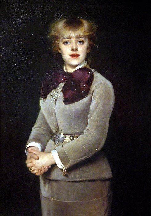 """""""Jeanne Savary (sociétaire de la Comédie Française"""" de Louise Abbéma (1858-1927)"""