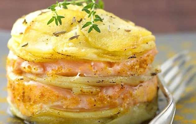 tortino di salmone e patate